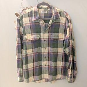 Vintage • pocket front plaid flannel